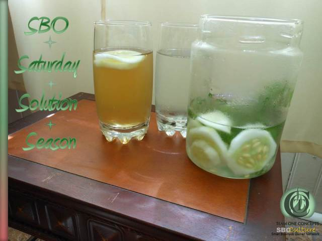 http://toctown.com Taking simple steps to keep your staff and clients cool as lemon cucumber water, sweetened with mint honey simple syrup. #SBOCulture #2020Vision #MOBI #TRAVEL #Environment